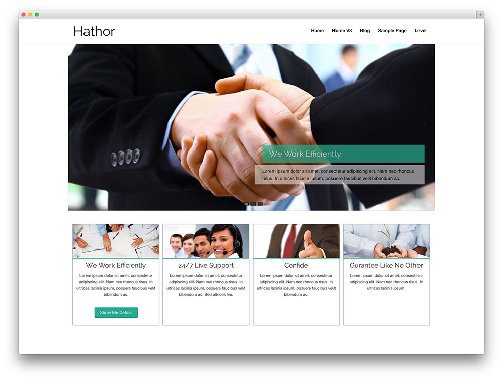 hathor-flat-design-business-theme